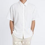 [모니즈] 코너 무지 반팔 셔츠 (2color) SHT630