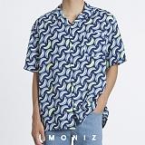 [모니즈] 하와이안 바나나 패턴 반팔 셔츠 (1color) SHT629
