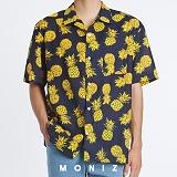 [모니즈] 하와이안 파인애플 패턴 반팔 셔츠 (1color) SHT628