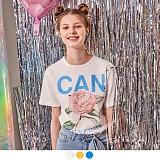 [무아무아]MUAHMUAH - CAN BE A ROSE T-SHIRTS 캔 비어 로즈 티셔츠 반팔티