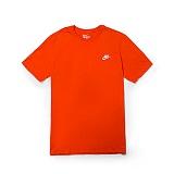[나이키]NIKE - NSW TEE CLUB EMBRD FTRA T-SHIRT 827021-891 (TEAM ORANGE/WHITE) 스우시 오렌지 반팔티 티셔츠