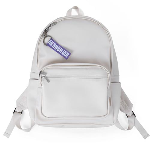 [버빌리안]BUBILIAN - Leather black 4 color _ Cream 가죽 백팩 레더 가방
