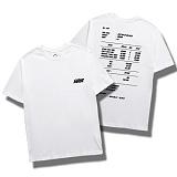 다소울[7J-3021] - receipt - 반팔티 - WHITE