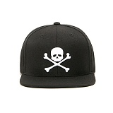 BLACKSCALE Skull & Bones Snap Back Black 스냅백