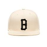 BLACKSCALE B Logo Snap Back Cream 스냅백