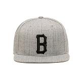 BLACKSCALE B Logo Snap Back Grey 스냅백