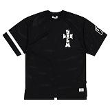 STIGMA - CROSS MESH OVERSIZED T-SHIRTS BLACK 반팔티셔츠