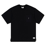 STIGMA - SQUARE POCKET OVERSIZED T-SHIRTS BLACK 반팔티셔츠