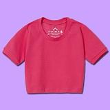 [슈퍼레이티브] superlative [S] 무지 크롭 반팔티 - 반팔 티셔츠 - 핑크