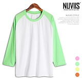 뉴비스 - 야구티 형광 7부 티셔츠 (KH017TS)