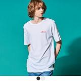 [어커버]ACOVER - BACK LINE LOGO T-SHIRTS 반팔 반팔티 티셔츠