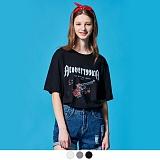 [단독상품][어커버]ACOVER - ROSE REVOLVER T-SHIRTS 반팔 반팔티 티셔츠