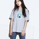 [그라운드워크]GROUNDWORK - re_17 캣 풋 티 / 연그레이
