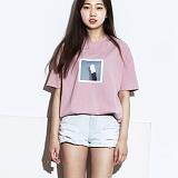 [그라운드워크]GROUNDWORK - re_17 캣 풋 티 / 핑크