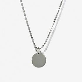 [Unisex] All Day Night Ball Chain Necklace - Circle/ 올데이 나잇 볼체인목걸이- 실버써클