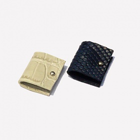 러쉬오프 RUSHOFF Fake Leather Earphone Case 2 Set/ 페이크레더 이어폰케이스 2세트
