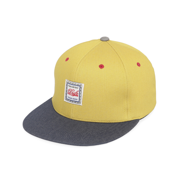 [드라이프]DRIFE - ROPE 6 PANEL CAP-MUSTARD/NAVY 스냅백