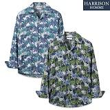 [해리슨] NJ 야자수 오픈카라 긴팔 셔츠 MET1501