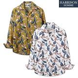 [해리슨] NJ 나뭇잎 오픈카라 긴팔 셔츠 MET1502