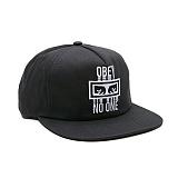 [오베이]OBEY - OBEY NO ONE SNAPBACK 100570053 (BLACK) 로고 스냅백