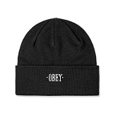 [오베이]OBEY - TIMES BEANIE 100030091 (BLACK) 숏비니 비니 와치캡