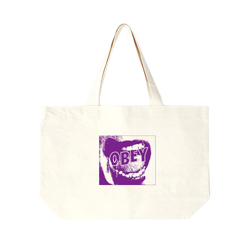 [오베이]OBEY - SCREAMER TOTE BAGS 100551568 (NATURAL) 토트백 에코백