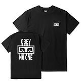 [오베이]OBEY - NO ONE T-SHIRT 163081559 (BLACK) 등판로고 반팔티 티셔츠