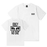 [오베이]OBEY - NO ONE T-SHIRT 163081559 (WHITE) 등판로고 반팔티 티셔츠