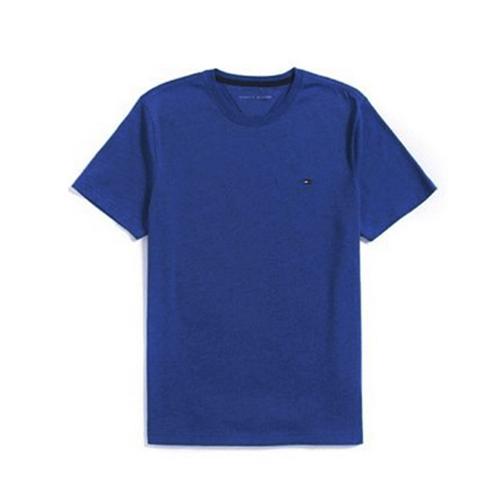 타미힐피거 맨즈 라운드 반팔 티셔츠 470 인디고블루 남녀공용 정품 국내배송