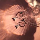 키키바바 - 육각 큐빅 드롭 귀걸이 이어링