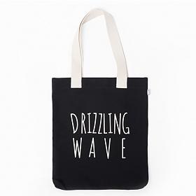 [드라이프]DRIFE - DRIZZLING WAVE ECO BAG-BLACK 에코백