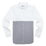 [드라이프]DRIFE - SPORT B.D SHIRTS-WHITE/BLUE 긴팔셔츠 긴팔남방