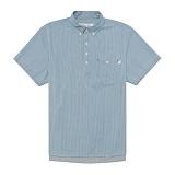 [드라이프]DRIFE - STRIPE PULLOVER SHIRTS-BLUE 반팔셔츠 반팔남방