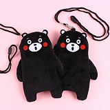 키키바바 - 쿠마몬 캐릭터 목걸이 파우치 지갑 가방