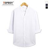 탑보이 - 브이라인 7부 셔츠 (ZT142)