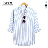 탑보이 - 상상 스트라이프 7부 셔츠 (ZT141)