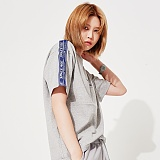[스페이스 에이지] SPACE AGE - SHOULDER TAPE T-SHIRTS (GRAY) 반팔티 티셔츠