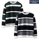 [해리슨] 코듀로이 단가라 맨투맨 CS1246 크루넥 스��셔츠