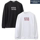 [해리슨] 로마체 자수 MTM NC1129 맨투맨 크루넥 스��셔츠
