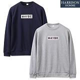 [해리슨] 메이비 패치 MTM NC1130 맨투맨 크루넥 스��셔츠