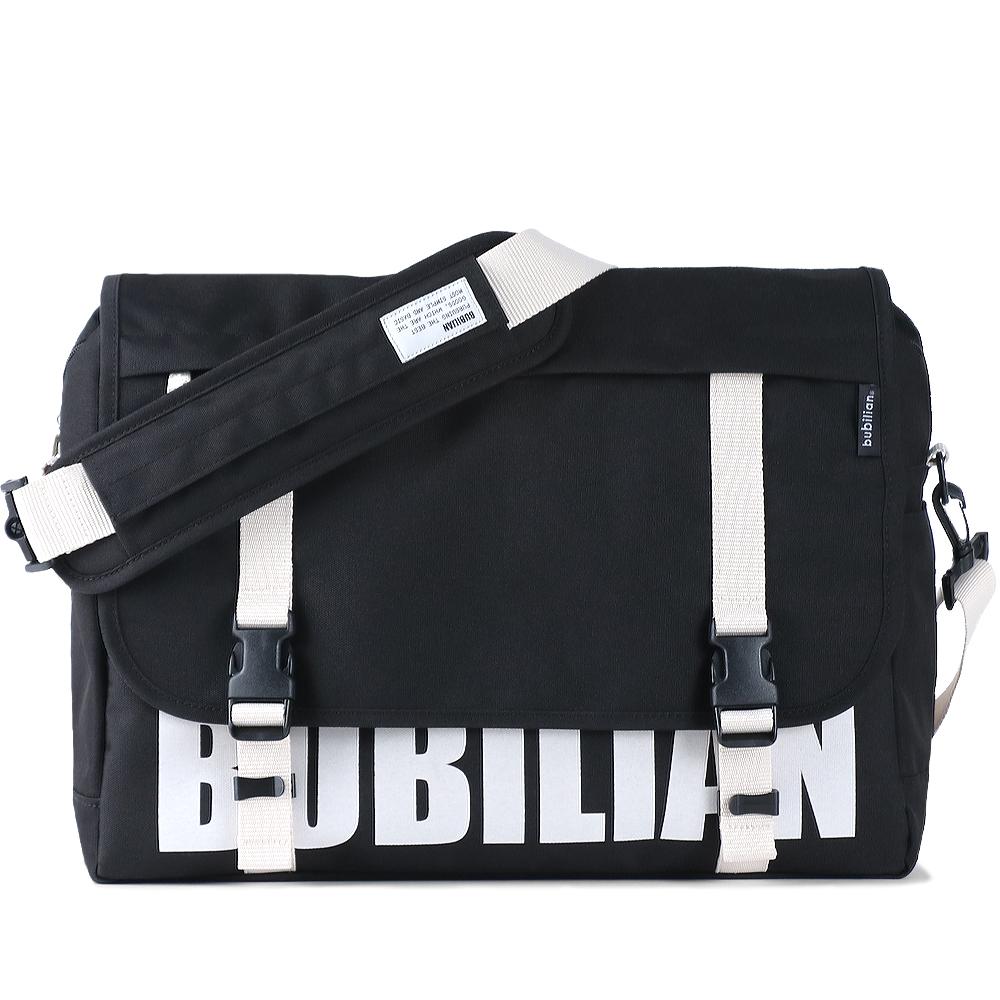 [버빌리안]BUBILIAN 로고 메신저백 (black&white) 가방