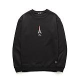 [URBANPLAYERS] 어반플레이어스 타워그래픽 맨투맨 PBCMT12BK 크루넥 스��셔츠