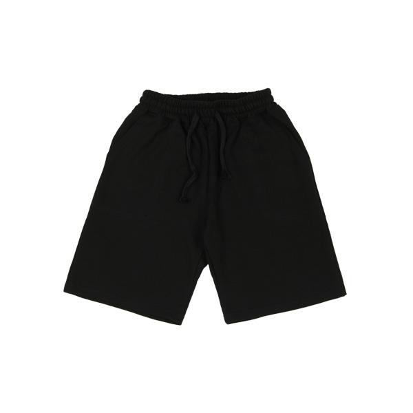 [티아즈] TEEAZ [UNISEX] 3단쭈리 하프 팬츠(블랙) 트레이닝팬츠 반바지