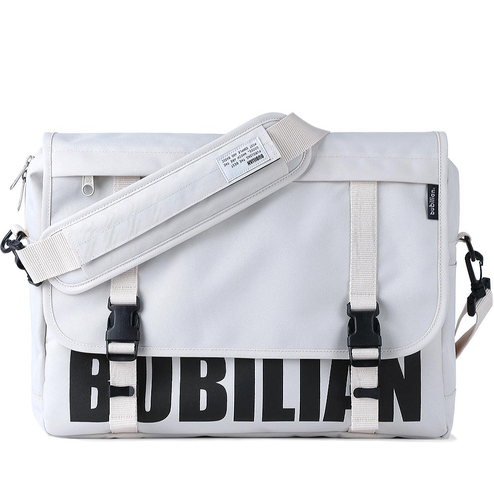 [버빌리안]BUBILIAN 로고 메신저백 (Cream) 가방
