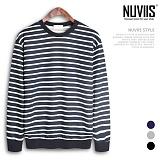 뉴비스 - 특양면 단가라 맨투맨 티셔츠 (MD071MT)