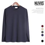 뉴비스 - 심플 라운드 긴팔 티셔츠 (MD075TS)
