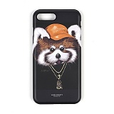 STIGMA - PHONE CASE RED PANDA BLACK iPHONE 7/7+ 아이폰 핸드폰케이스