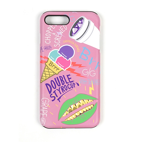STIGMA - PHONE CASE ICE CREAM PINK iPHONE 7/7+ 아이폰 핸드폰케이스