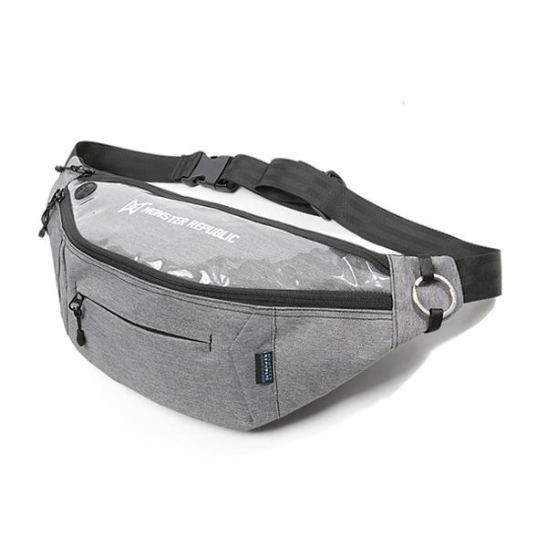 [몬스터 리퍼블릭][사은품 키링 증정/구매후기 지갑증정] PROGRESS WAIST BAG ver.2 L.GRAY 힙색 웨이스트백