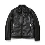 [11/27일 예약발송]라퍼지스토어 - (Unisex) Buffing Leather Pocket Jacket 레더자켓 가죽